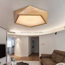 aliexpress buy modern polyhedron wooden led ceiling light