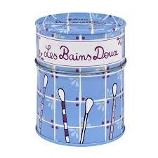 boîte à bâtonnets doux bleu derrière la porte dlp boite