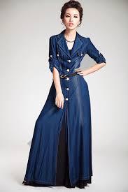 tall women u0027s coats and jackets tencel silk long maxi denim
