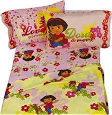 Dora Toddler Bed Set by Amazon Com Dora The Explorer 4 Piece Toddler Bedding Set Home