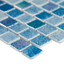 Buy Glass Pool Tile 1x1 Mosaic