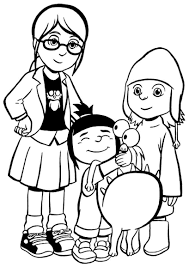 High Quality Free Despicable Me Cartoon Coloring Books For Kids Printable