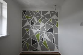 Diy Wall Painting At Geous White Grey Also Green And Black Coloring The Mesmerizing