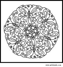Ideas Of Printable Butterfly Mandala To Color For Free