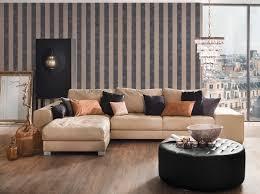 blockstreifen tapete mit farb und strukturmuster schwarz beige silber
