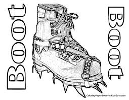 Mountain Climbing Boot Printable At YesColoring