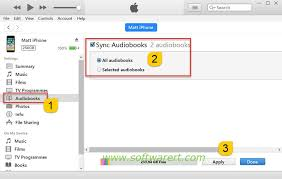 Sync audio books from puter to iPhone iPad using iTunes