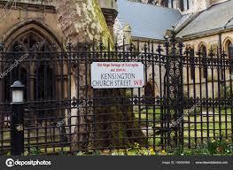 100 Kensington Church London Street Sign Street Borough