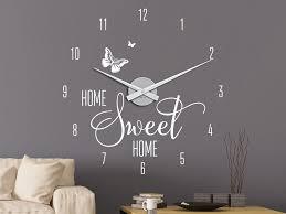 wandtattoo uhr home sweet home