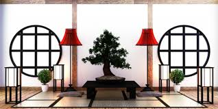 japanisches wohnzimmer auf boden tatami matte premium foto