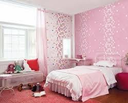 Kids Room Cute Pink Dotty Wallpaper Girls Bedroom Home Design Bed Ideas Teenage Interior