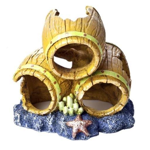 Fish 29061 Aquarium Ornament - Barrels, Small