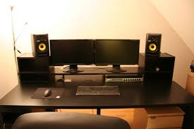 Diy Under Desk Cpu Holder by Guide Diy Music Production Desk From Ikea Parts Build 1 Youtube