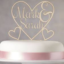 Heart Wedding Cake Toppers Attractive Design 9 Personalised Wooden Topper By Sophia Victoria