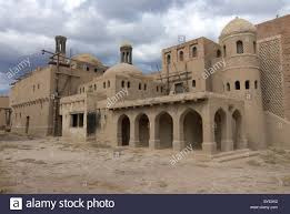 100 Nomad Architecture Film Set Of The Movie Kazakhstan Central Asia Stock Photo