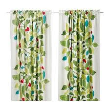 Ikea Aina Curtains Discontinued by Ikea Stockholm Blad Pair Of Curtains Green Discontinued Ikea