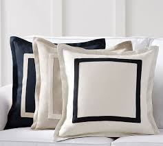 Pottery Barn Decorative Pillow Inserts by Textured Linen Frame Pillow Cover Pottery Barn