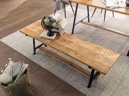 esszimmerbank mango massivholz 180x47x42 cm holzbank massiv industrial design küchenbank essbank groß esstischbank küche ohne lehne