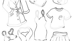 Winter Clothes Coloring Pages To Print Sheets For Kids Boy Printable All