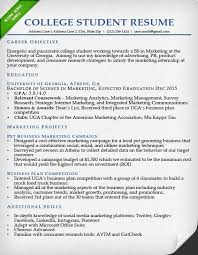 College Student Resume Sample Examples For Students
