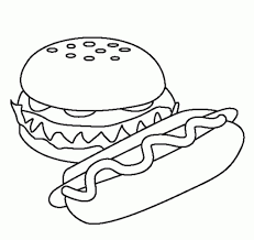 Hot Dog Coloring Page Intended To Motivate In Image At