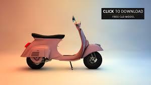 Free C4D Model Vintage Vespa Scooter