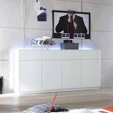 weißes sideboard mit hintergrundbeleuchtung led blocos 180cm breit