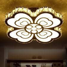 romantische herz blume led kristall decke licht schlafzimmer