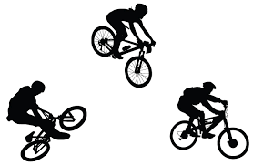 Bmx Bicycle Silhouettes Free Vector 123Freevectors