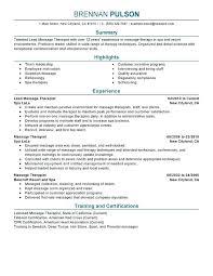 Respiratory Care Job Duties Resume Examples Lead Massage Therapist Salon Spa Fitness Sample Mental Health Physical