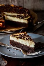 brownie käsekuchen mit rohen kakaonibs brownie cheesecake