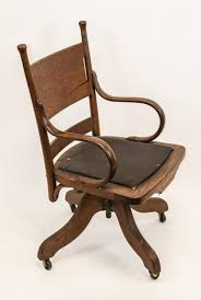 Arts And Crafts Period Oak Swivel Desk Chair