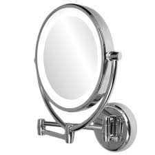 ovente mlw45ch 9 5 inch led lighted wall mount makeup mirror 1x