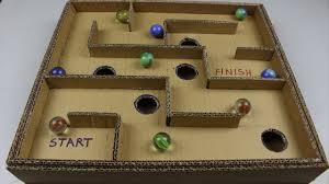 DIY Board Game Marble Labyrinth From Cardboard