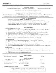 Resume Examples For Office Assistant Objectives Administrative Assistants