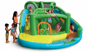 2 In 1 Wet N Dry Inflatable Slide And Bouncer