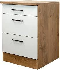 mmr küchen unterschrank glasgow auszugunterschrank 2 auszüge 1 schublade küchenschrank 60 cm breit creme matt
