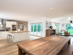Best Floor For Kitchen Diner by Open Plan Kitchen Dining Room And Living Room Area On Timber