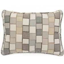 Decorative Outdoor Lumbar Pillows by Sunbrella Blox Slate Outdoor Throw Pillow W Piping By Lakeview