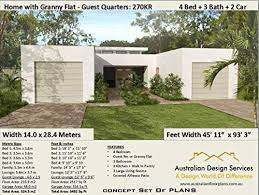 Get A Home Plan Modern 3 Bedroom Study House Plan