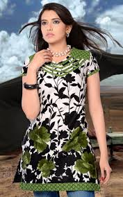 off white u0026 black cotton designer kurtis