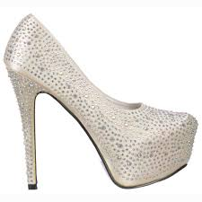 onlineshoe rhinestone crystal high heel stiletto concealed