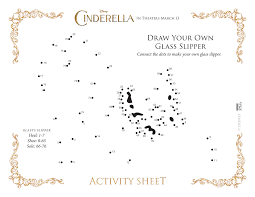 Draw Your Own Glass Slipper Cinderella Connect The Dots