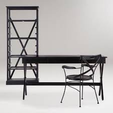 Threshold Campaign Desk Black by Black Campaign Home Office Collection World Market