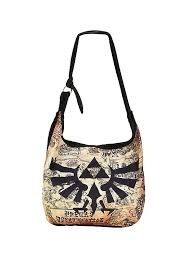 the legend of zelda triforce logo map hobo bag topic