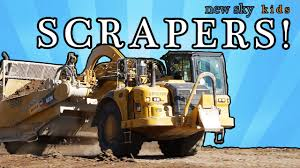 Construction Truck Videos For Children - Scrapers - YouTube Cstruction Trucks Toys For Children Tractor Dump Excavators Truck Videos Rc Trailer Truckmounted Concrete Pump K53h Cifa Spa Garbage L Crane Flatbed Bulldozer Launches Ferry Excavator Working Tunes 1 Full Video 36 Mins Of Truck Videos For Kids Vehicles Equipment The Kids Picture This Little Adorable Road Worker Rides His Tonka Toy Tow And Toddlers 5018 Bulldozers Vs Scrapers