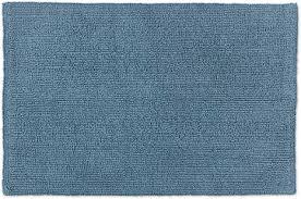 schöner wohnen kollektion badteppich 60 x 90 cm beidseitig verwendbar waschbar 100 baumwolle einfarbig hellblau