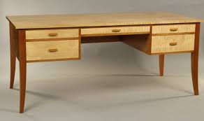 writing desk custom handmade desk fine desk maker tiger maple cherry