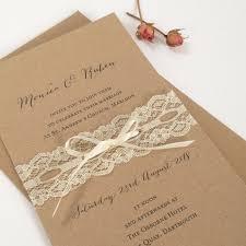 Lace Wedding Invitation Rustic Invites