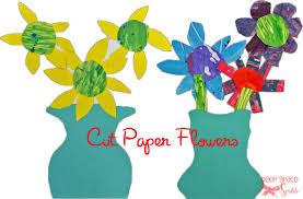 Paper Cut Flower Art Project